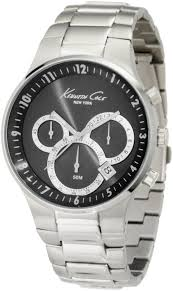 kenneth cole watches top brand watch reviews kenneth cole new york men s kc9161 classic 3500 series round chronograph contemporary sub eye black
