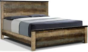 Sembene Antique Multi-Color Wood Cal King Bed by Coaster