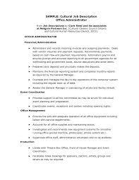 Event Management Job Description Resume Administrative Manager Sample Job Description Medical Office 68
