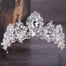Barokní Luxusní Krystal Ab Svatební Koruna Diadémy Světle Zlaté Diadém Dárky Pro ženy Nevěsta Svatební Vlasy Doplňky Zlato