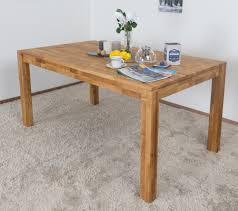 Dining Table Wooden Nature 415 Solid Oiled Oak 160 X 90 Cm W X D
