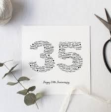 personalised 35th wedding anniversary gift