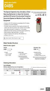 d4bs omron united states d4bs datasheet