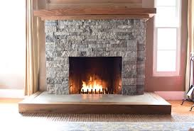 diy fireplace makeover stones