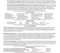 Sample Human Resources Resume Human Resources Resume Objective Examples Sample Cover Letter 95