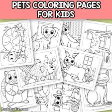 Coloring is a very useful hobby for kids. Pets Coloring Pages For Kids Itsybitsyfun Com