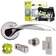 jigtech chrome contract smart door handle set page or privacy
