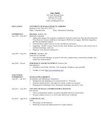 Information Technology Resume Objective Information Technology