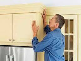 how to install crown moulding on kitchen cabinets installing crown molding on kitchen cabinets with