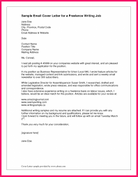 Email Cover Letter Example Bio Letter Format Regarding Cover