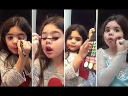 young s makeup video goes viral five year old danna gomez s make up videos