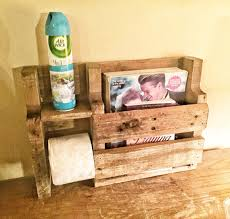 Toilet Paper Holder With Magazine Rack ON SALE Rustic Toilet Paper Holder Rustic Wood Magazine Rack 96