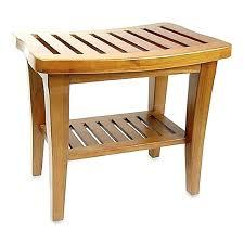 wooden garden stools teak wood shower bench spa bath stool shelf indoor outdoor bathroom seat chair