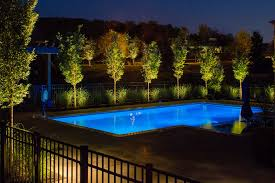 landscape lighting around pool in bwood tn