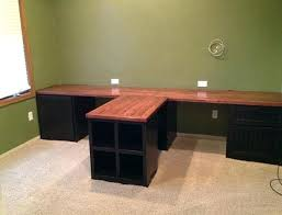 l shaped desk for two. Contemporary For T Shaped Desk Custom Home Office Desks L Exterior Plans Free Of  On L Shaped Desk For Two P