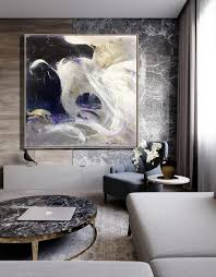 extra large canvas art black and white