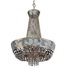 allegri by kalco romanov antique silver leaf led 24 inch wide chandelier with firenze fleet