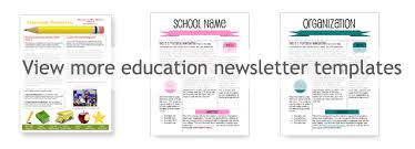 Education Newsletter Templates Worddraw Com Free Classroom Newsletter Template