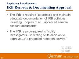 regulatory requirements 26 irb cover letter sample