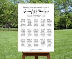 seating chart for wedding reception printable large wedding seating chart black white wedding