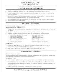 Pharmacy Technician Resume Objective Stunning Sample Pharmacy Tech Resume Free Pharmacy Technician Resume Free