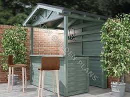 home bar outdoor pitched roof 2mx1 5m