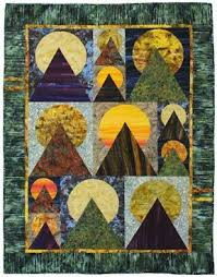 65 best Moon Over The Mountain Quilts images on Pinterest ... & Fuji Quilt Kit Finished Size x Adamdwight.com