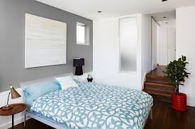 ny home office by bespoke decor benjamin moore gray owl for a contemporary bedroom with a brown table lamp and phinney ridge bespoke office furniture contemporary home office