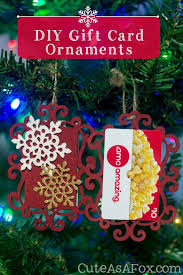 everything for the diy gift card ornaments can be found at michaels i m sure you could find similar things at other craft s i just happened to be in