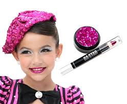 fire magenta glitter lip dance cheer makeup kit