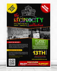 Event Flier Elegant Playful Flyer Design For The Reciprocity Collective