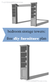 bedroom storage towers. Fine Towers Bedroom Storage Towers And Shelf  Free DIY Furniture Plan Two Make A Home On