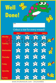 Well Chart Kids Childrens Star Chart Reward Chart Miscellaneous Stock