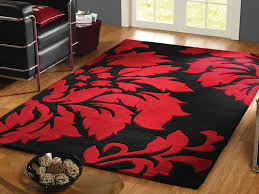 perfect black and red contemporary area rugs with decorations 15
