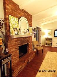 brick fireplace mantel removal family room installation mantels surrounds
