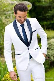 New Classic Design White Groom Tuxedos Groomsmen Best Man Suit Men S Wedding Suits Bridegroom Business Suits Jacket Pants Tie Cheap