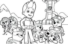 Free Paw Patrol Coloring Pages To Print At Getdrawingscom Free
