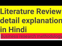 literature review in hindi you