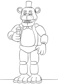Fnaf Coloring Pages Golden Freddy Sketch Page Birthday