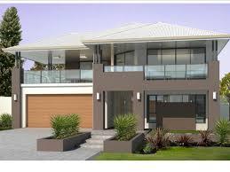 Balcony Over Garage Design Two Storey Facade Mushroom Tones Balcony Over Garage
