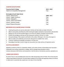 Resume Objective For Bartending Job Sample Document Resumes