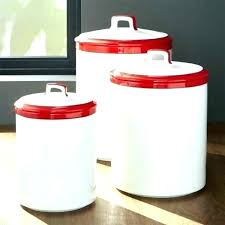 red kitchen canisters ceramic set white canister black striped vintage green white canister set