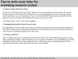 Marketing Research Analyst Cover Letter Collection Of Solutions
