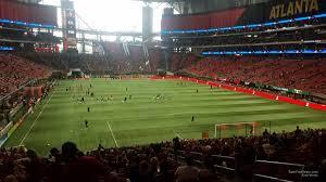 Atlanta United Interactive Seating Chart Mercedes Benz Stadium Section 121 Atlanta United