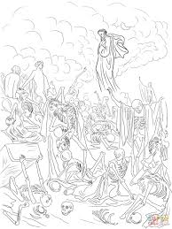 Small Picture Ezekiels Vision of the Valley of Dry Bones coloring page Free