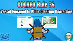 Maritime Lights And Shapes Colreg Rule 27 Vessel Engaged In Mine Clearing Operations