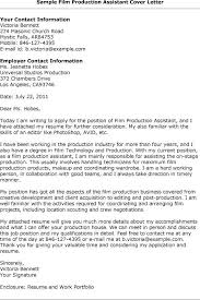 Film Production Assistant Cover Letter Production Assistant Cover Letter Film Production Assistant Cover
