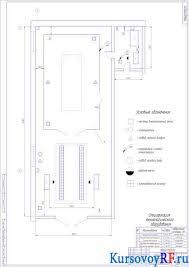 Реконструкция малярного отделения автотранспортного предприятия  Чертеж планировки отделения Заархивированная курсовая работа