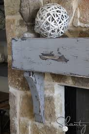 how to hang a mantel on a stone