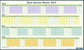 Exam Revision Timetable Template Exam Revision Wall Planner 2019 With Hints Tips Guide Stickers